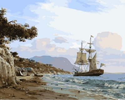 Фото Картины на холсте по номерам, Морской пейзаж VP854