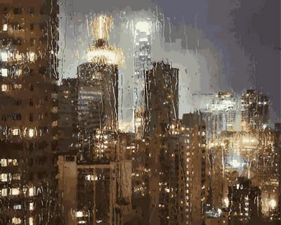 """Картина по номерам VP 952 """"Ночной дождь"""" в коробке 40х50см"""