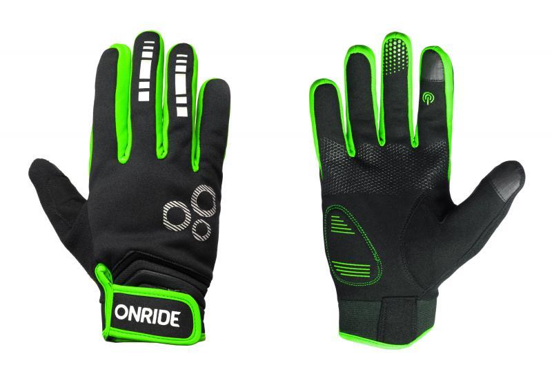 Рукавички ONRIDE Pleasure 20 чорний/зелений