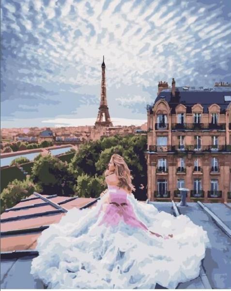 Фото Картины на холсте по номерам, Городской пейзаж KGX 25433