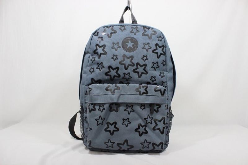 Школьный рюкзак звёздочки серый Код0144-01