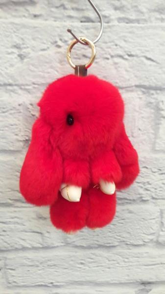 Брелок-игрушка КРОЛИК из натурального меха большой и средний 11-05
