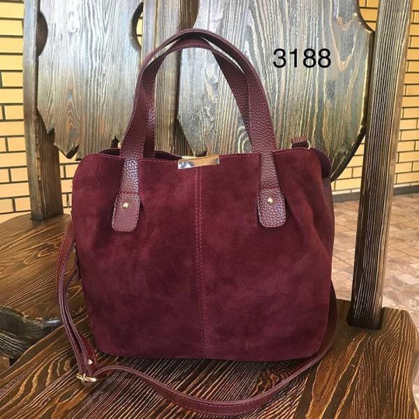 Женская сумка из натуральной замши в разных цветах 0071-01