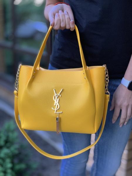 Женские сумки ZARA желтые Код 0091-01
