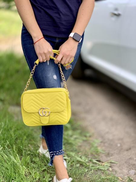 Сумочка женская цвет желтый Код0096-01