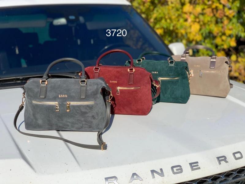 Женская сумка-саквояж натуральная замша в разных цветах Код3720-1
