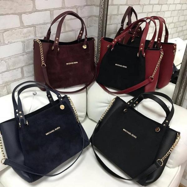 Женская сумочка Michel Kors из натуральной замши в разных цветах Код1660