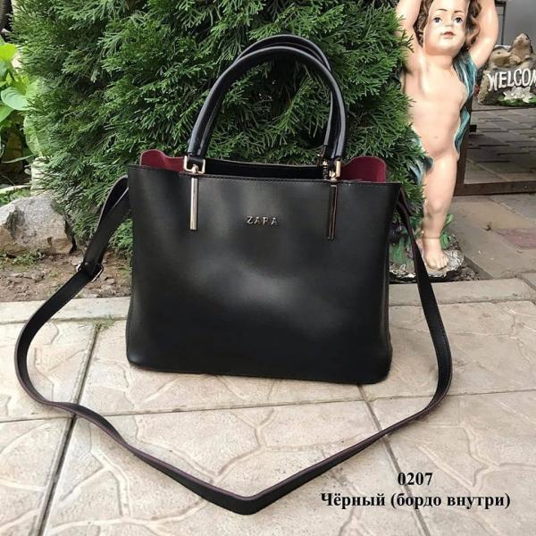 Женская сумка ZARA черная Код0207-1