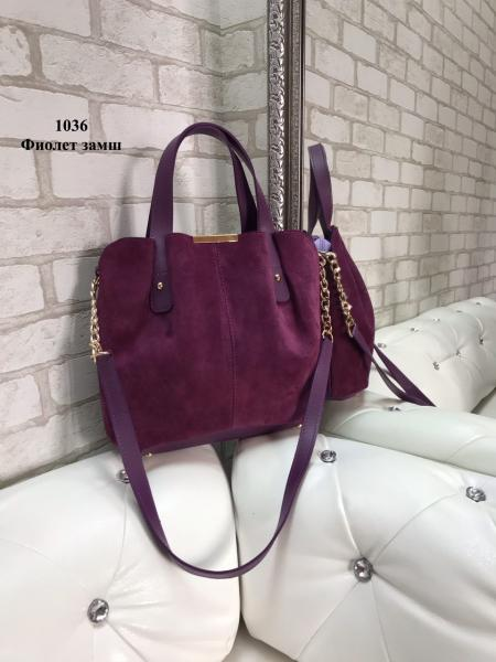 Женская сумка замш/экокожа цвета разные Код1036-4