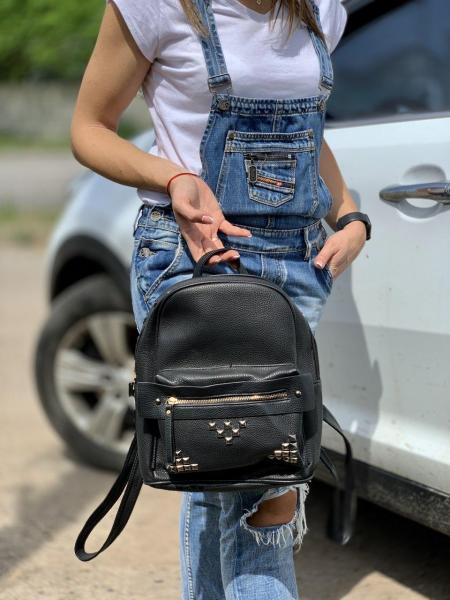 Сумка рюкзак женский черный  Код 0072-01