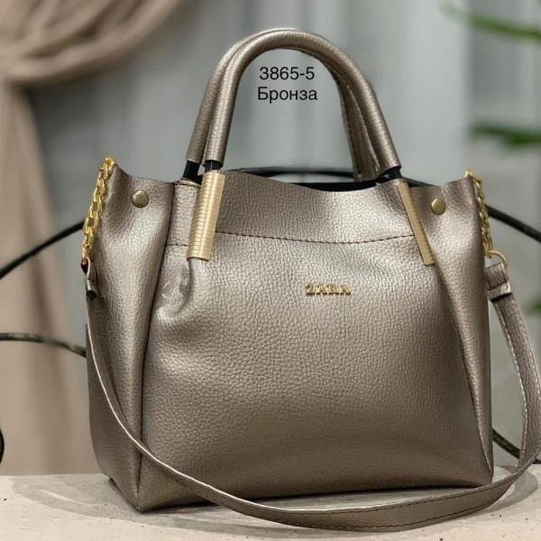 Женская сумка ZARA кожзам разные цвета Код3865