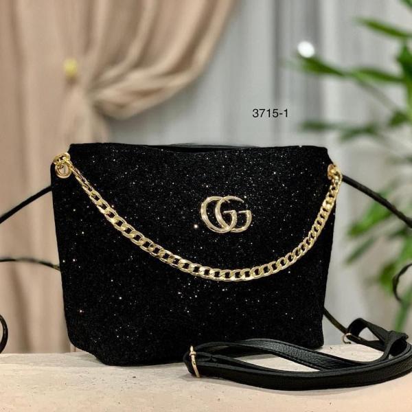 Женская сумка разные бренды глиттер Код3715