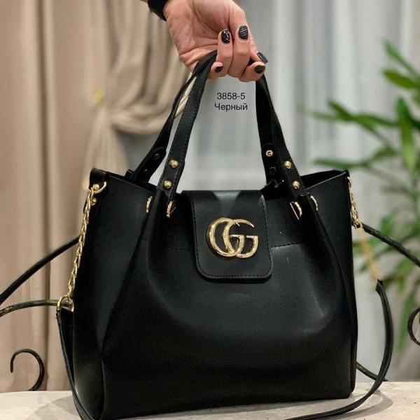 Женская сумка GUCCI/Michael Kors черная Код3858