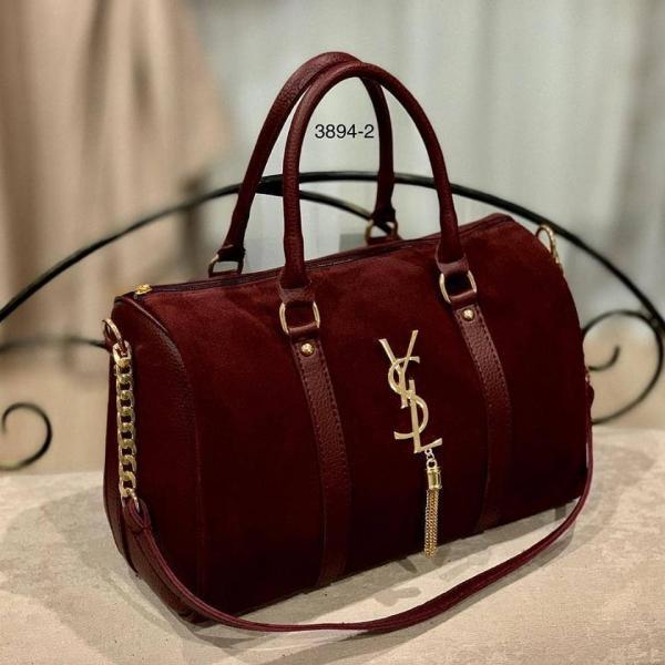Женская сумка-саквояж натуральная замша в разных цветах Код3894
