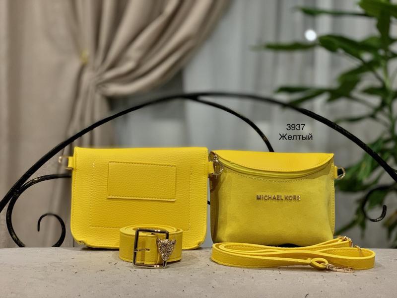 Женская поясная сумка-клатч светлый тон Код 3937-2