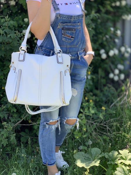 Женская сумка цвет белый  Код 0085-01