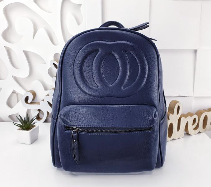 Сумка рюкзак женский синий Код Код 055-1572