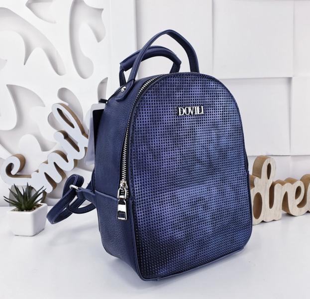 Сумка рюкзак женский синий с фиолетовым переливом Код 02207