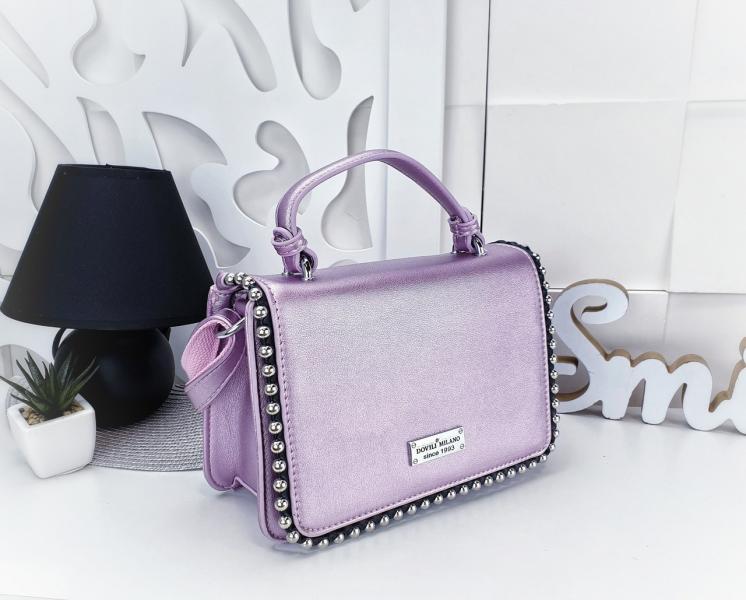 Женская сумочка-клатч экокожа светло сиреневый Код 03083АА-3