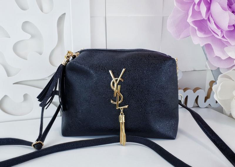 Женская сумочка-клатч экокожа чёрный с переливом Код 02975В-3