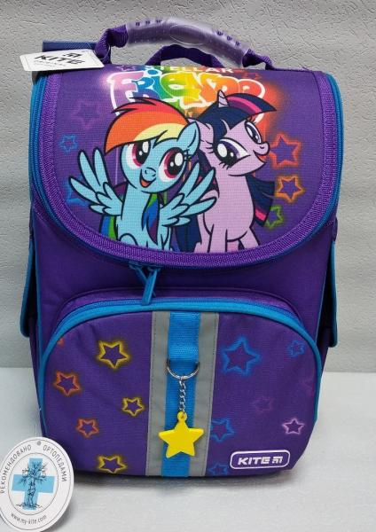 """Школьный рюкзак """"KITE"""" фиолетовый/розовый+принт Код ШК-10"""