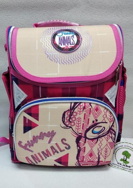 """Школьный рюкзак """"CLASS"""" розовый/фиолетовй+принт Код ШК-17"""