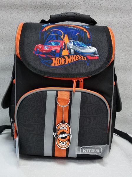 """Школьный рюкзак """"KITE"""" черный+принт Код ШК-23"""