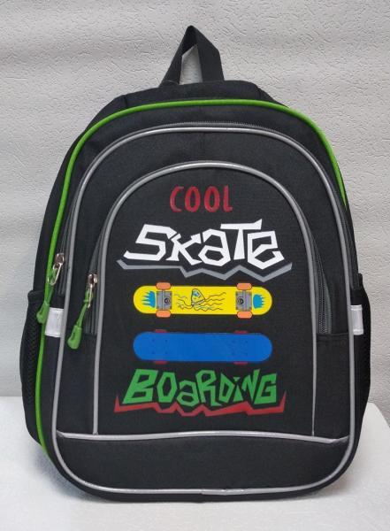 """Школьный рюкзак """"CLASS"""" чёрный+принт Код ШК-033"""