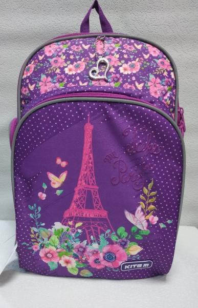 """Школьный рюкзак """"KITE"""" фиолетовый+принт Код ШК-034"""