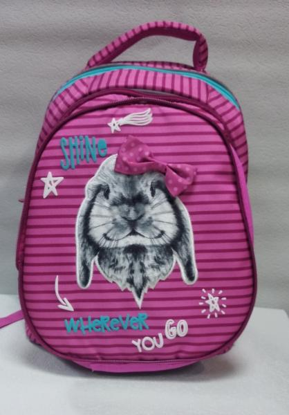"""Школьный рюкзак """"KITE"""" розовый+принт Код ШК-036"""