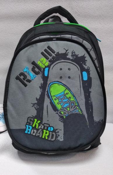 """Школьный рюкзак """"KITE"""" черный+принт Код ШК-037"""
