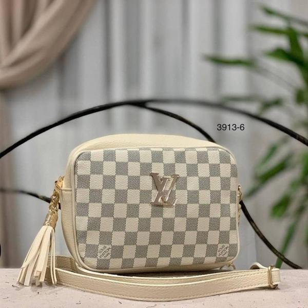 Женская сумка-клатч Louis Vuitton бежевый, черный, коричневый Код3913-1