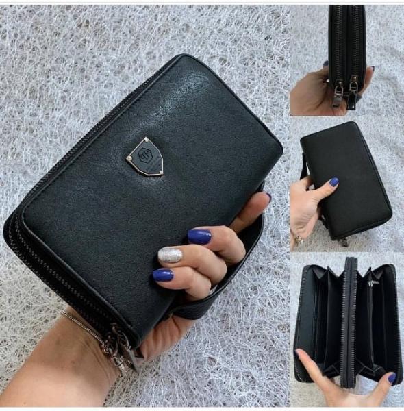Клатч  мужской ручной черный Код 0061-01