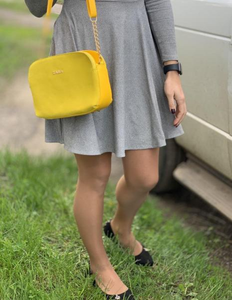 Женская сумка ZARA замша желтая Код 0062-01