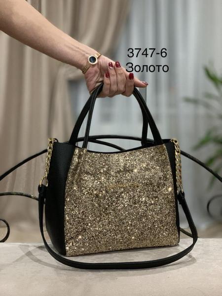 Женская сумка блестящая  Код 3747-1