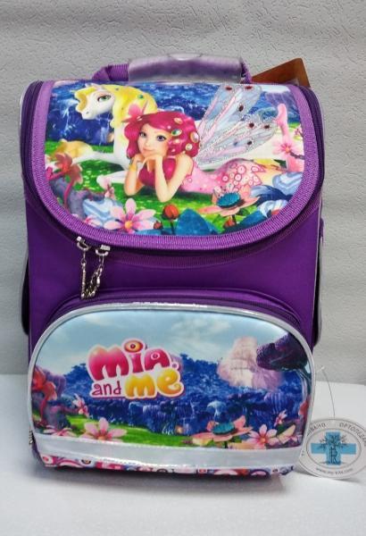 """Школьный рюкзак """"KITE"""" красный/фиолетовый+принт Код ШК-15"""