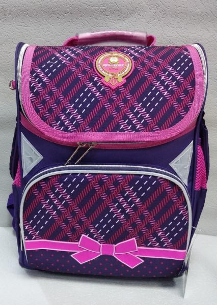 """Школьный рюкзак """"CLASS"""" фиолетовый+принт Код ШК-18"""