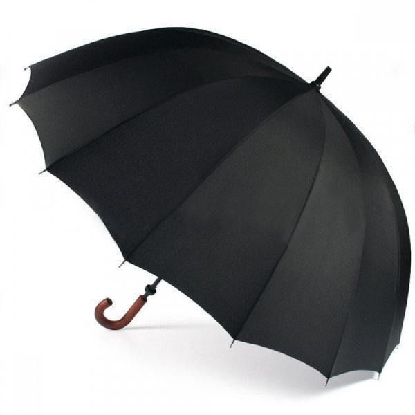 Президентский зонт  Zest трость 16 спиц черный