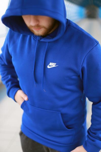 Толстовка утепленная Nike синяя