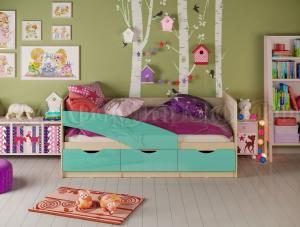 Детские кровати Дельфин глянец 1,6м, (1,8м, 2,0м) (Миф)