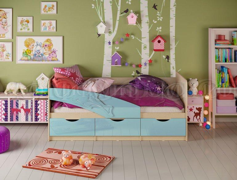 Фото Детская мебель Детские кровати Дельфин металлик 1,6м, (1,8м, 2,0м) (Миф)