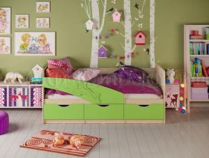 Детские кровати Дельфин матовый 1,6м, (1,8м, 2,0м) (Миф)