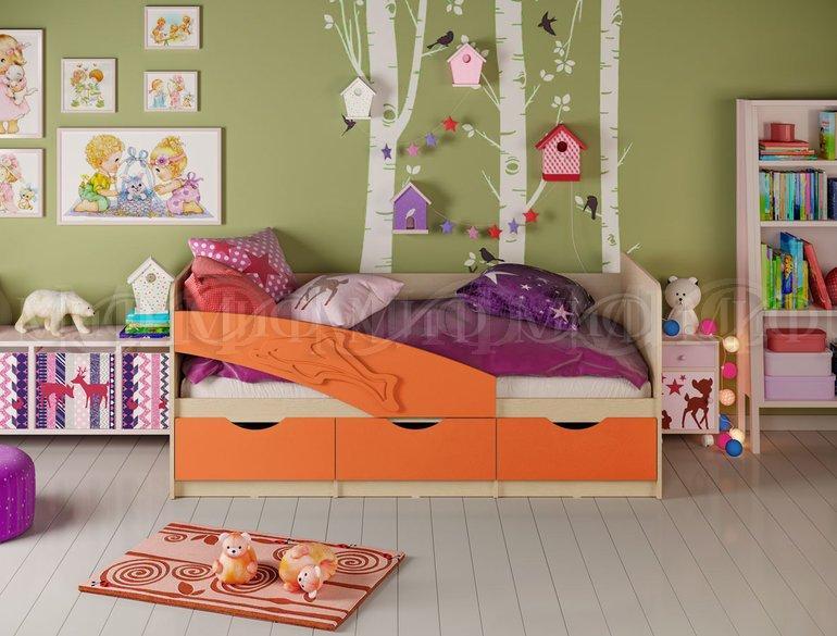 Фото Детская мебель, Детские кровати Детские кровати Дельфин матовый 1,6м, (1,8м, 2,0м) (Миф)