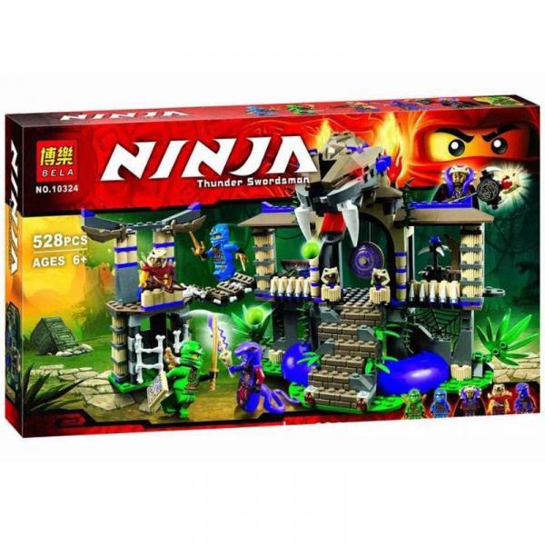 "10324  Конструктор Bela Ninja (аналог Lego Ninjago) ""Храм Клана Анакондрай"", 528 дет"