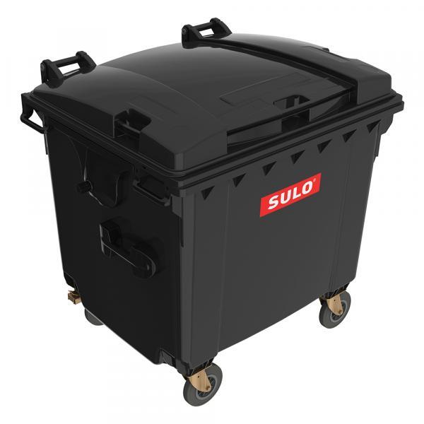 Контейнер мусорный 1100 литров SULO, мусорный бак 120, 240, 1100 литров