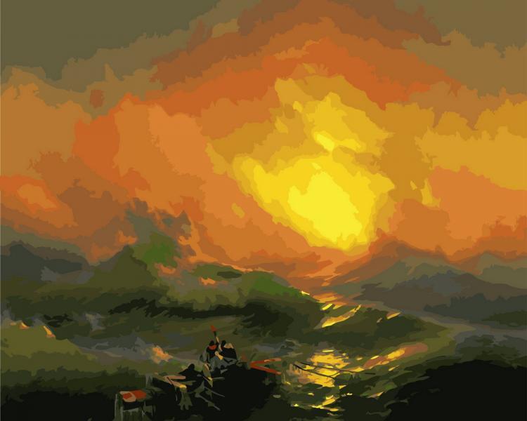 GX 8298 Девятый вал. Айвазовский Картина по номерам на холсте 40х50см, без коробки