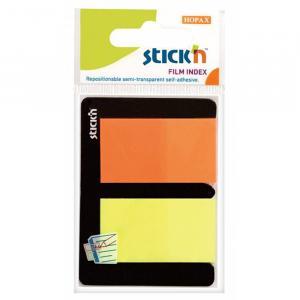 Фото Бумажная продукция (ЦЕНЫ БЕЗ НДС), Бумага для заметок, закладки (стикеры) Закладки клейкие пластиковые STICK'N 2 цвета по 25 листов, 45х25 мм, ассорти