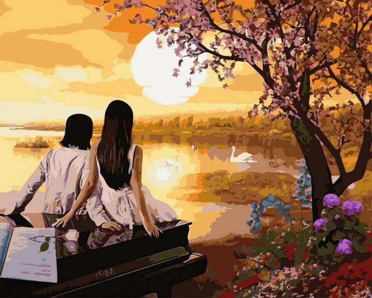 Фото Картины на холсте по номерам, Романтические картины. Люди VP 380