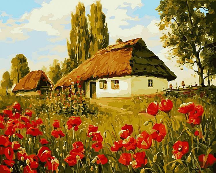 Фото Картины на холсте по номерам, Моя Україна VP 496 Роспись по номерам на холсте 40х50см