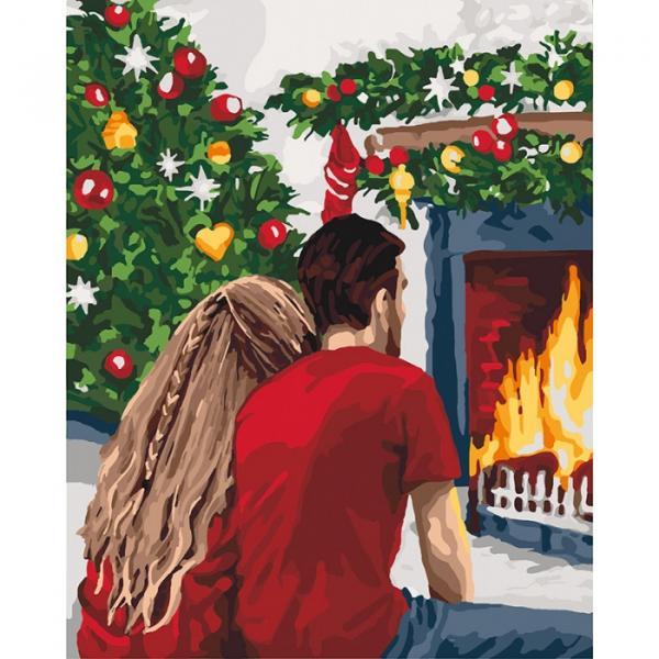 KH 4640 Рождественская романтика Роспись по номерам на холсте. 40х50см